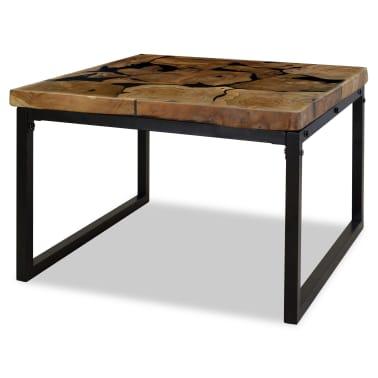 vidaXL Kavos staliukas, tikmedis ir derva, 60x60x40cm[5/11]