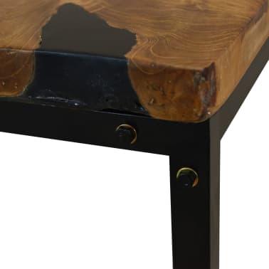 vidaXL Kavos staliukas, tikmedis ir derva, 60x60x40cm[9/11]