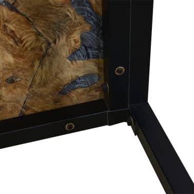 vidaXL Kavos staliukas, tikmedis ir derva, 60x60x40cm[10/11]
