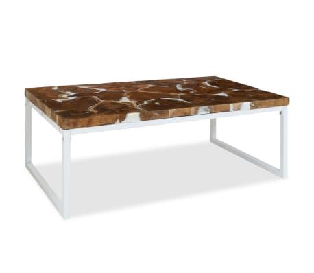 vidaXL Kavos staliukas, tikmedis ir derva, 110x60x40cm[4/10]