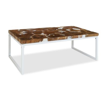vidaXL Kavos staliukas, tikmedis ir derva, 110x60x40cm[5/10]