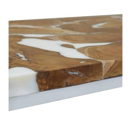 vidaXL Kavos staliukas, tikmedis ir derva, 110x60x40cm[8/10]