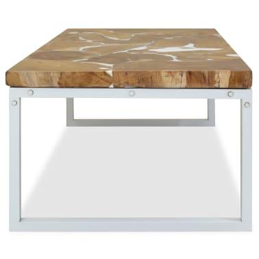 vidaXL Kavos staliukas, tikmedis ir derva, 110x60x40cm[7/10]