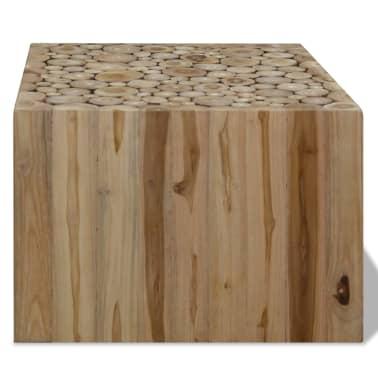vidaXL Kavos staliukas, tikras tikmedis, 50 x 50 x 35 cm[2/6]