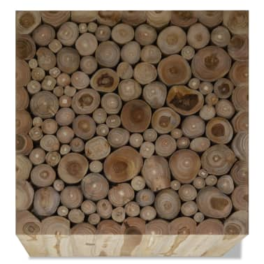 vidaXL Kavos staliukas, tikras tikmedis, 50 x 50 x 35 cm[3/6]
