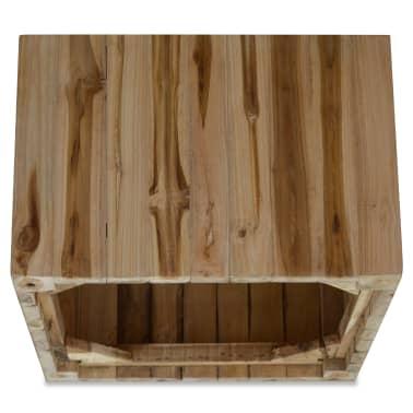 vidaXL Kavos staliukas, tikras tikmedis, 50 x 50 x 35 cm[5/6]