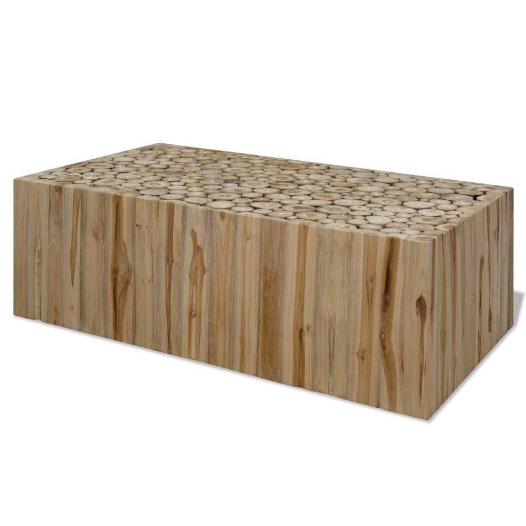vidaXL Konferenční stolek, pravý teak, 90x50x35 cm