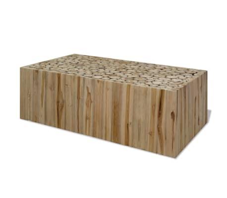 vidaXL sofabord ægte teaktræ 90 x 50 x 35 cm