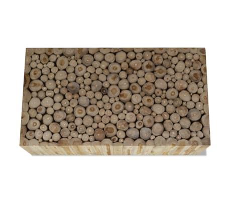 vidaXL Kavos staliukas, tikras tikmedis, 90x50x35 cm[3/7]