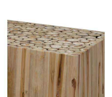 vidaXL Kavos staliukas, tikras tikmedis, 90x50x35 cm[5/7]
