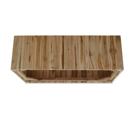 vidaXL Kavos staliukas, tikras tikmedis, 90x50x35 cm[6/7]