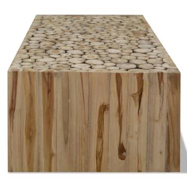 vidaXL Kavos staliukas, tikras tikmedis, 90x50x35 cm[4/7]