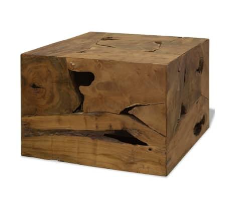 vidaXL barna, valódi tíkfa dohányzóasztal 50 x 50 x 35 cm