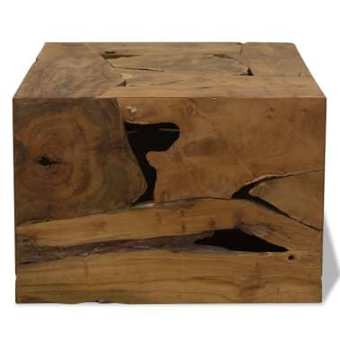 vidaXL Kavos staliukas, 50x50x35cm, tikmedis, rudas[2/7]