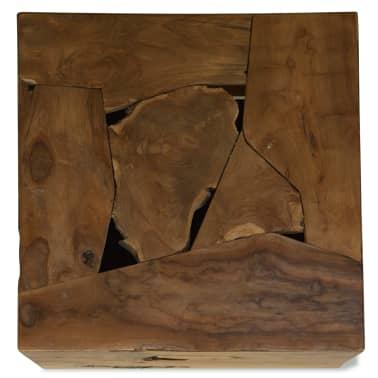 vidaXL Kavos staliukas, 50x50x35cm, tikmedis, rudas[4/7]
