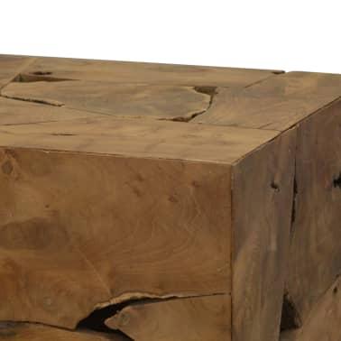 vidaXL Kavos staliukas, 50x50x35cm, tikmedis, rudas[5/7]