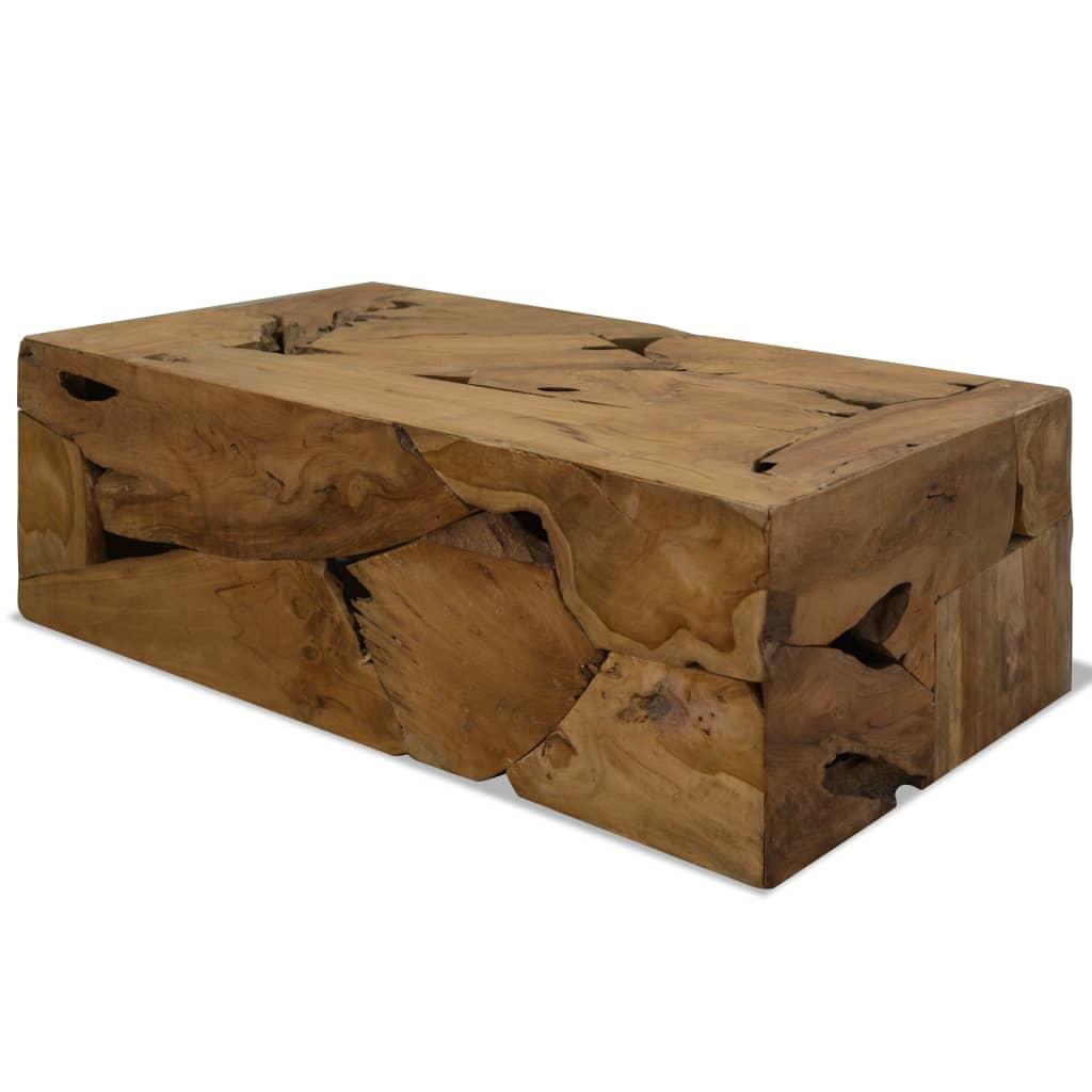 vidaXL Măsuță de cafea, 90 x 50 x 35 cm, lemn de tec natural, maro imagine vidaxl.ro