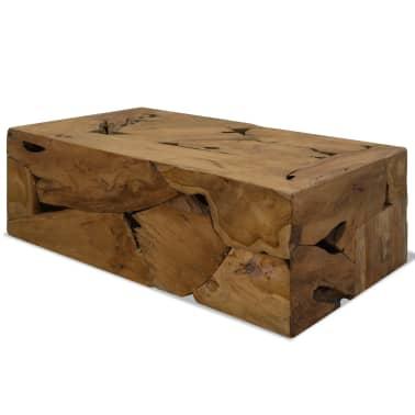 vidaXL Kavos staliukas, 90x50x35cm, tikmedis, rudas[1/7]