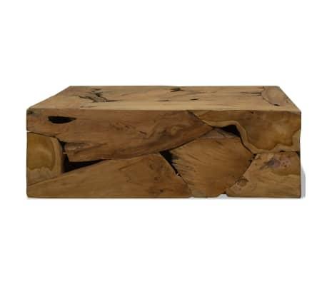 vidaXL Kavos staliukas, 90x50x35cm, tikmedis, rudas[2/7]