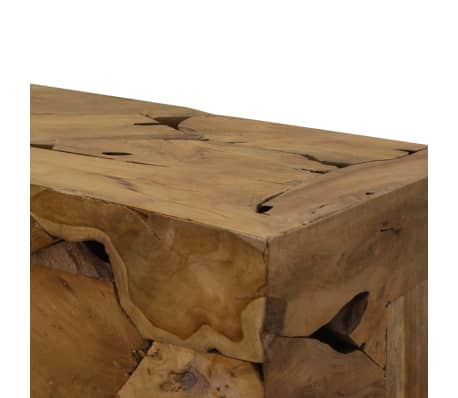 vidaXL Kavos staliukas, 90x50x35cm, tikmedis, rudas[4/7]