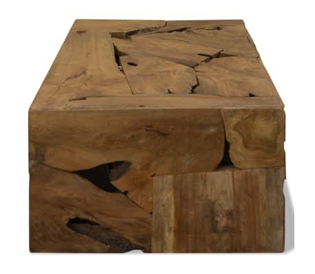 vidaXL Konferenční stolek, pravý teak, 90x50x35 cm, hnědý[5/7]