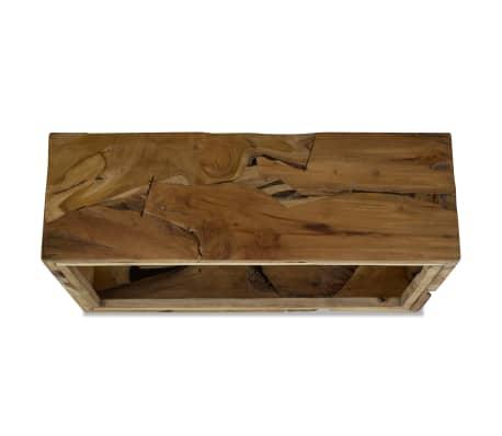 vidaXL Konferenční stolek, pravý teak, 90x50x35 cm, hnědý[6/7]