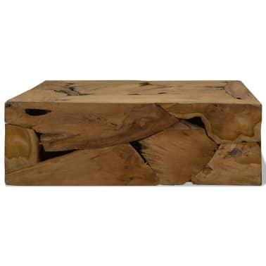 vidaXL Konferenční stolek, pravý teak, 90x50x35 cm, hnědý[2/7]