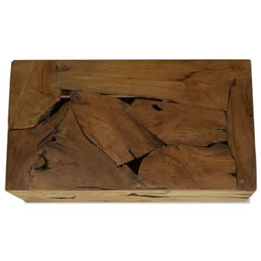 vidaXL Kavos staliukas, 90x50x35cm, tikmedis, rudas[3/7]