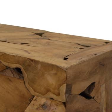 vidaXL Konferenční stolek, pravý teak, 90x50x35 cm, hnědý[4/7]