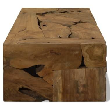 vidaXL Kavos staliukas, 90x50x35cm, tikmedis, rudas[5/7]