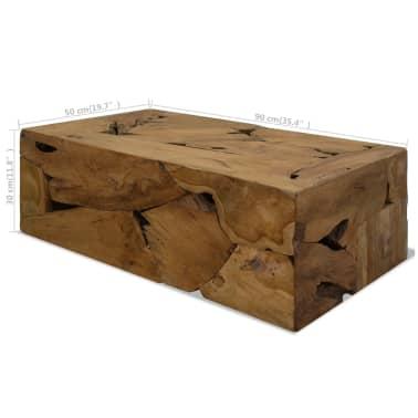 vidaXL Kavos staliukas, 90x50x35cm, tikmedis, rudas[7/7]