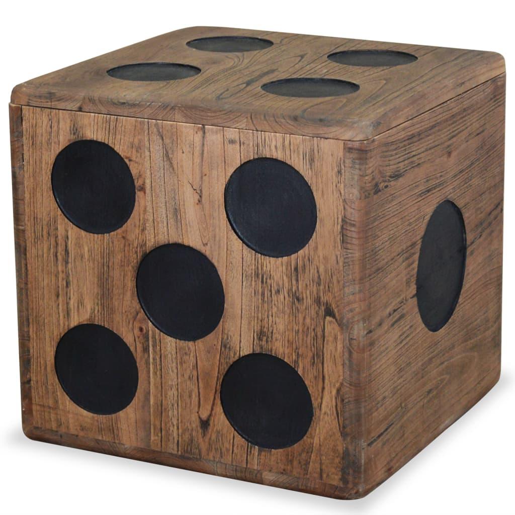 Úložný box mindi dřevo 40 x 40 x 40 cm design hrací kostky