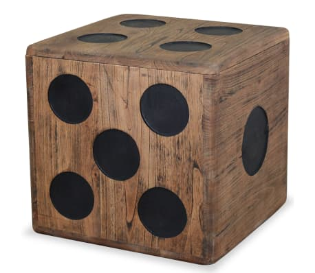 "vidaXL Storage Box Mindi Wood 15.7""x15.7""x15.7"" Dice Design"