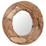 vidaXL Koristeellinen peili pyöreä 60 cm Tiikki
