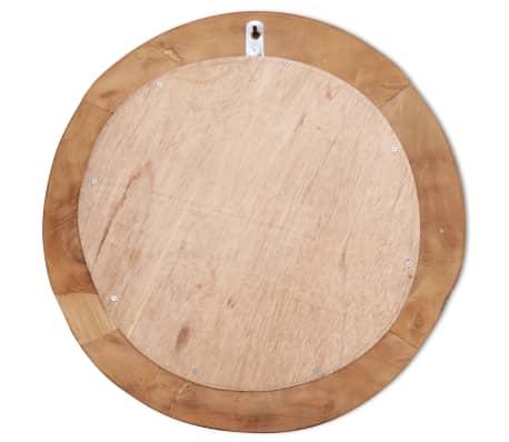 vidaXL Dekorativer Spiegel Teak 60 cm Rund[8/8]
