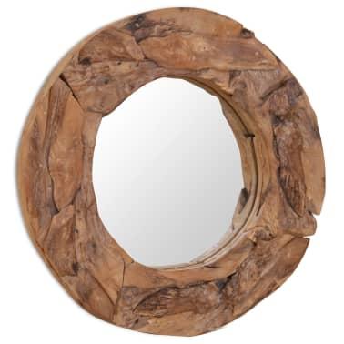 vidaXL Dekorativer Spiegel Teak 60 cm Rund[5/8]