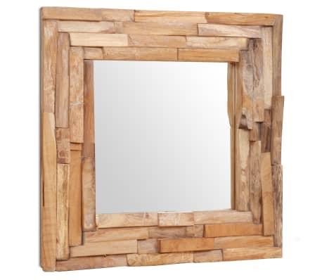 Acheter vidaxl miroir d coratif teck 60 x 60 cm carr pas cher for Miroir decoratif