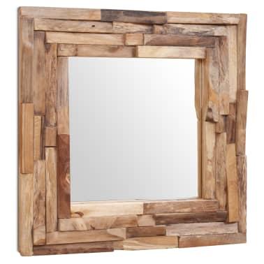 Vidaxl Lustro Dekoracyjne Drewno Tekowe 60 X 60 Cm