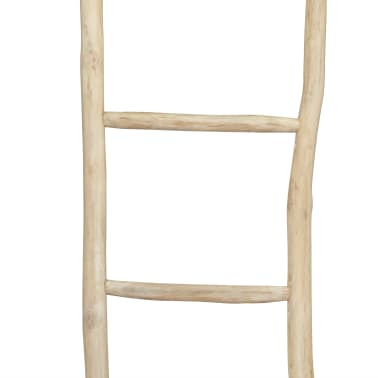 "vidaXL Towel Ladder with 5 Rungs Teak 17.7""x59"" Natural[2/2]"