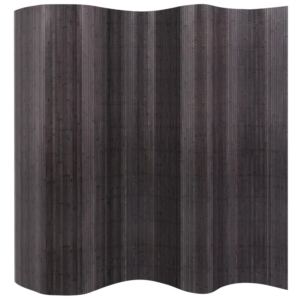 vidaXL Paraván bambusový šedý 250x195 cm