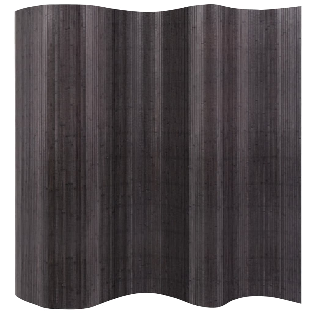 vidaXL Paravan de cameră din bambus, gri, 250 x 165 cm vidaxl.ro