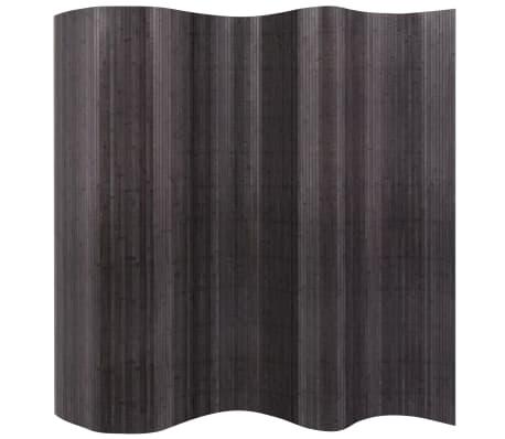 """vidaXL Room Divider Bamboo Gray 98.4""""x76.7"""""""