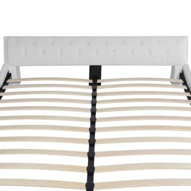 vidaxl bett mit matratze kunstleder 180x200 cm wei g nstig kaufen. Black Bedroom Furniture Sets. Home Design Ideas