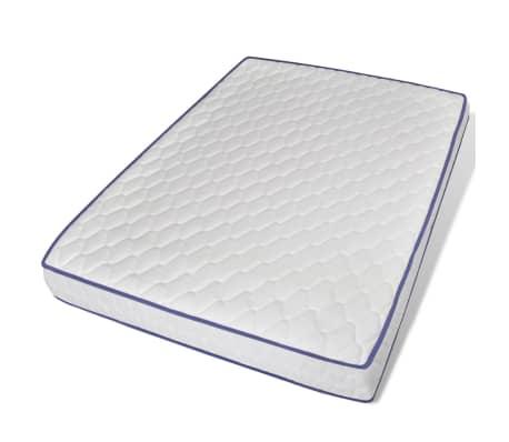 vidaXL Bett mit LED und Memory-Matratze Kunstleder 140x200cm schwarz[9/15]