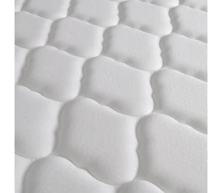 vidaxl bett mit memory matratze kunstleder 180x200 cm curl wei g nstig kaufen. Black Bedroom Furniture Sets. Home Design Ideas