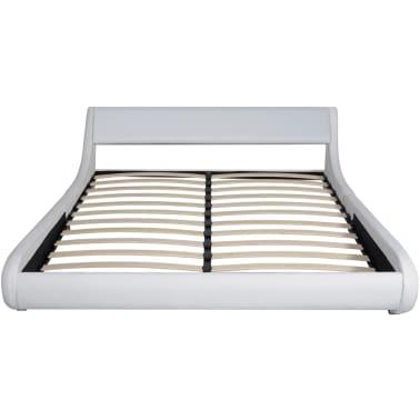 vidaxl bett mit memory matratze kunstleder 180x200 cm curl. Black Bedroom Furniture Sets. Home Design Ideas
