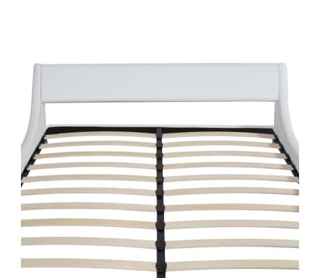 vidaxl bett mit matratze kunstleder 180x200 cm curl wei g nstig kaufen. Black Bedroom Furniture Sets. Home Design Ideas