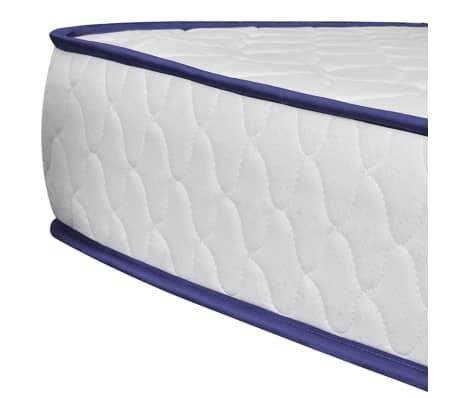 vidaXL Lit avec matelas mousse à mémoire Blanc Similicuir 180x200 cm[10/15]