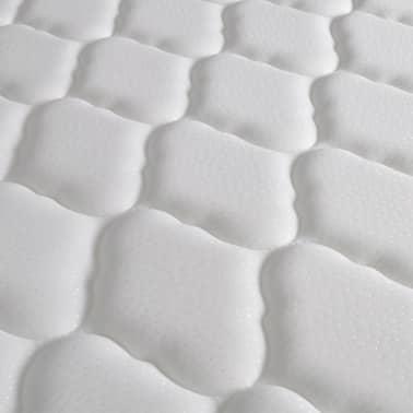 vidaXL Lit avec matelas mousse à mémoire Blanc Similicuir 180x200 cm[12/15]