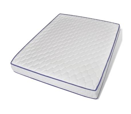 vidaxl doppelbett mit memory matratze metall schwarz 160x200 cm g nstig kaufen. Black Bedroom Furniture Sets. Home Design Ideas